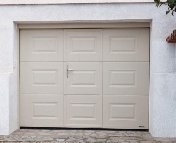 Porte de Garage Cassettes avec Portillon