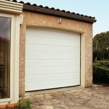 Porte de Garage Mono-rainurée Lisse