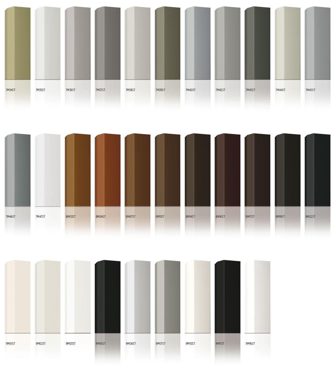Combinaisons de couleurs ALU