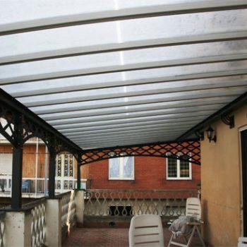 Rénovation toiture polycarbonate sur pergola existante